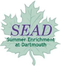 Summer Enrichment at Dartmouth (SEAD) Logo