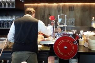 Salami slicer at work
