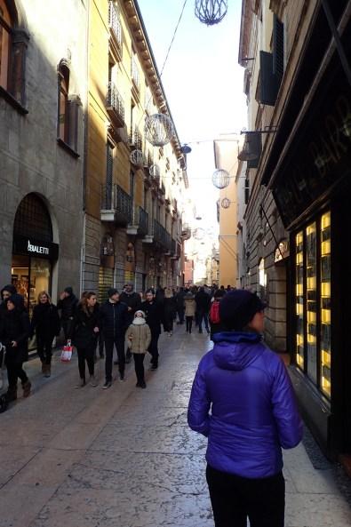 The marble paved Via Mezzini