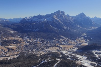 Looking back over the Cortina township