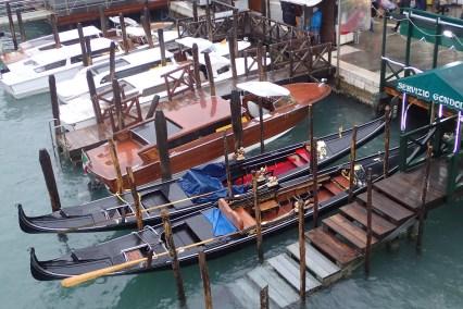 Beautifully decorated gondolas