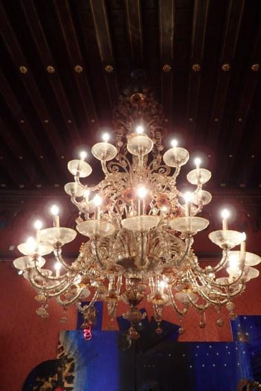 Venetian candelabra at Palazzo Franchetti
