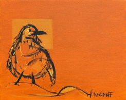 Penguin, size 16x20 in., canvas giclée print available in size R2