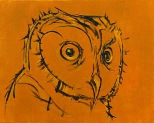 Owl Portrait 2, size 16x20 in., canvas giclée print available in size R2