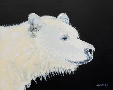 Spirit Bear, size 16x20 in., original sold, canvas giclée print available in size R2