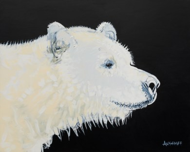 Spirit Bear, size 16x20 in., original not available, canvas giclée print available in size R2