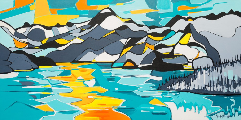 Turn for Home, size 36x72 in., canvas giclée print available in size L1,L2,L4,L5,L6