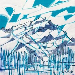 Banff, original size 20x20 in., canvas giclée print available in sizes S1