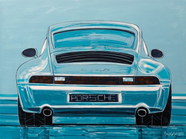 Porsche, original size 36x48 in., original not available, canvas giclée print available in sizes R1,R3,R6,R7