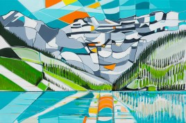 Lake Louise, size 24x36 in., original not available, canvas giclée print available in size R5