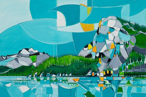 Squamish, original size 48x72 in., original sold, canvas giclée print available in size R5,R13