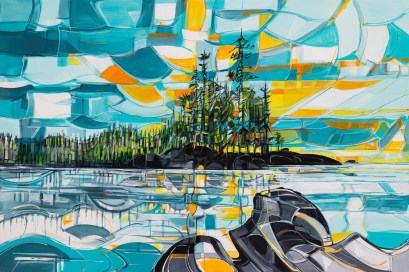 Saturna, original size 48x72 in., original sold, canvas giclée print available in sizes R5,R13,R16