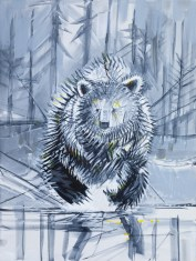 Chilko Bear, size 36x48 in., original sold, canvas giclée print available in size R6,R7