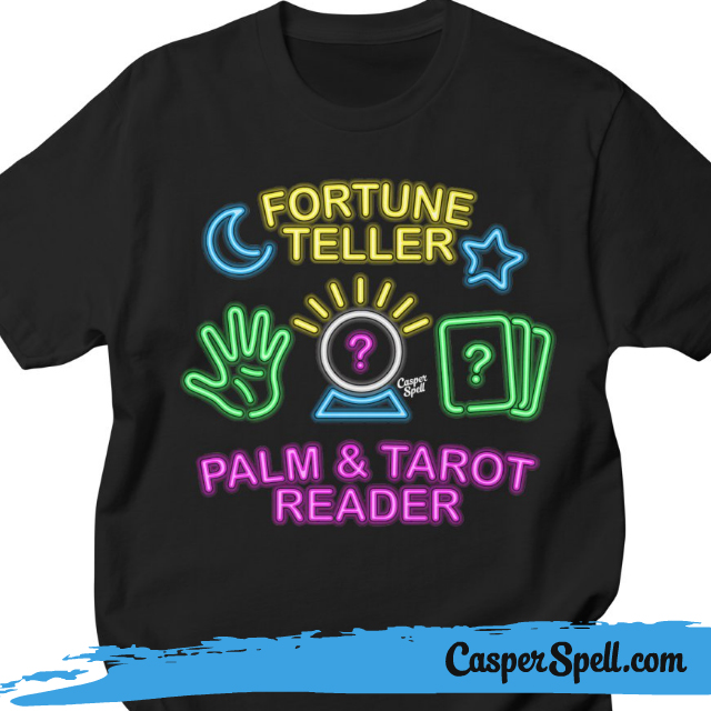 Neon Psychic Sign Fortune Teller Shirt Apparel Casper Spell