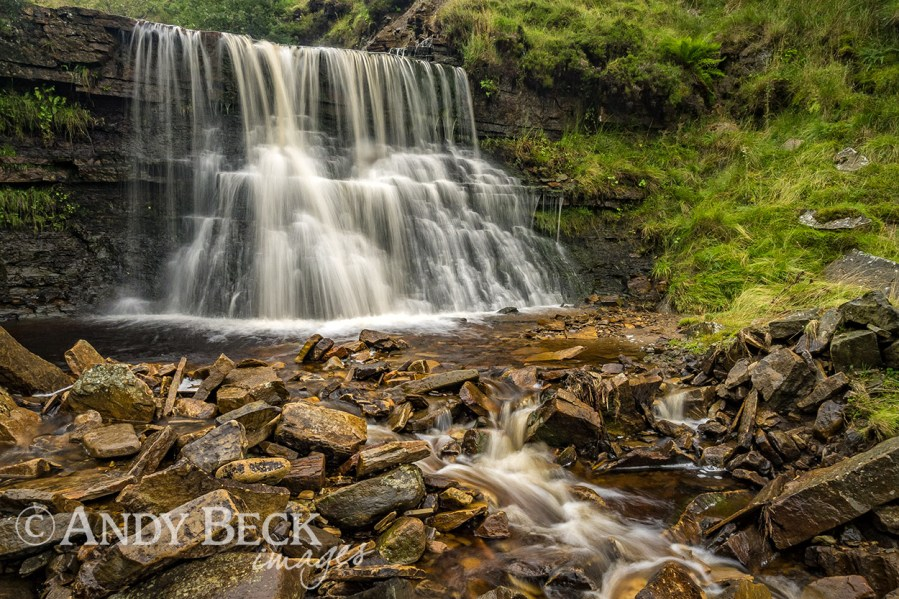 Hudeshope Beck waterfall 2