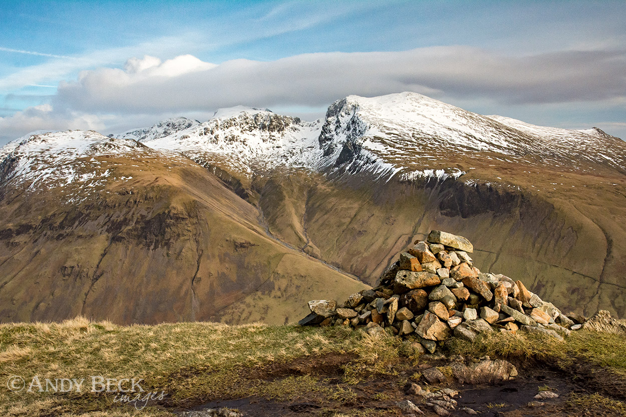The Scafells from Yewbarrow