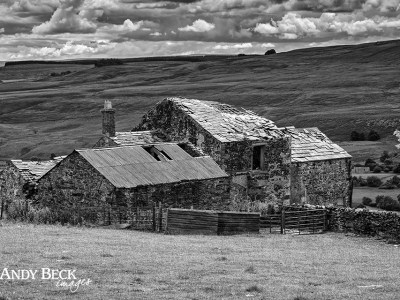 Light on the roof, derelict farm, Teesdale
