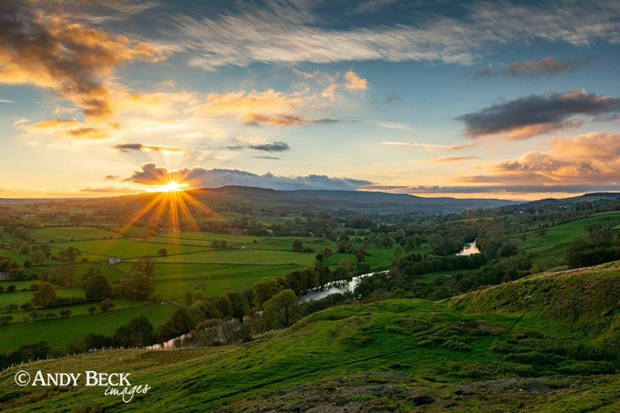 Sunset from Whistle Crag, Teesdale