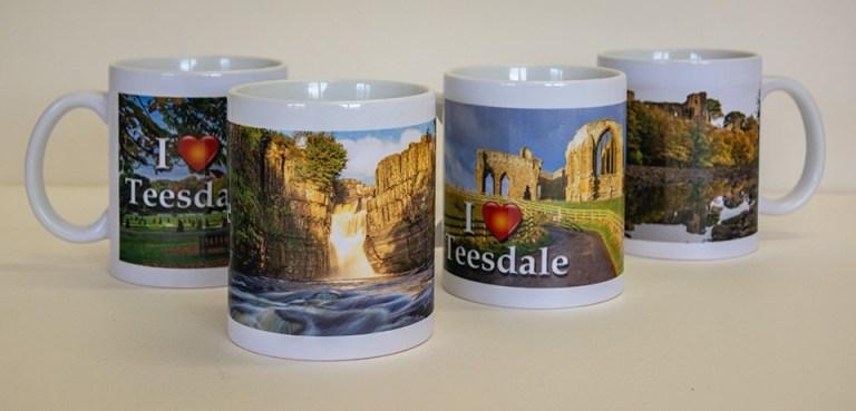 I Love Teesdale mugs (set of 4)
