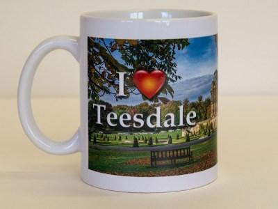 I Love Teesdale Bowes Museum mug