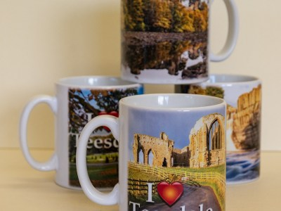I Love Teesdale 4 mug set