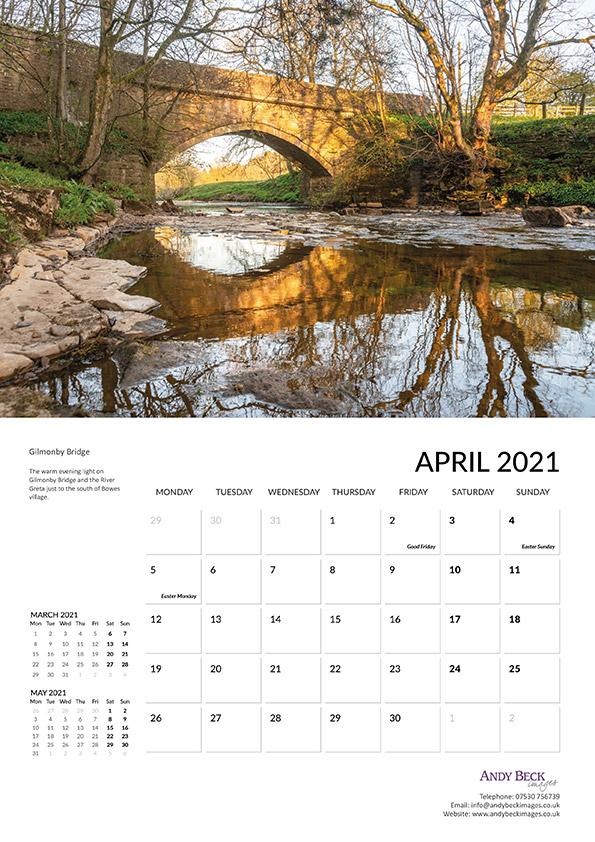 Teesdale calendar 2021 April