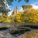 Golden reflections at Barnard Castle