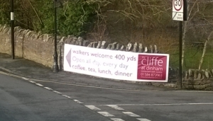 Cliffe Hotel advertising banner must go – Ludlow is not a ticky-tacky town (updated)