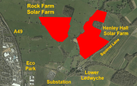 New solar farm proposed for Rock Farm on the outskirts of Ludlow