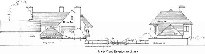 Linney_Castle_Grange_revised_elevation_from_Linney
