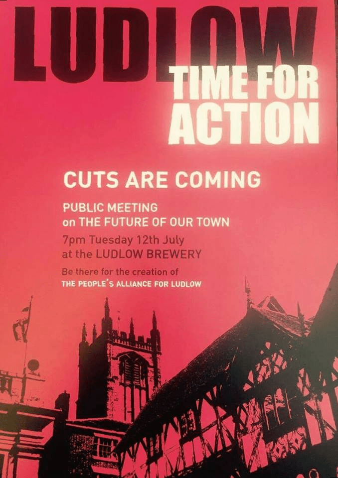 People's Alliance for Ludlow to be launched on Tuesday night, 12 July to fight Shropshire service cuts