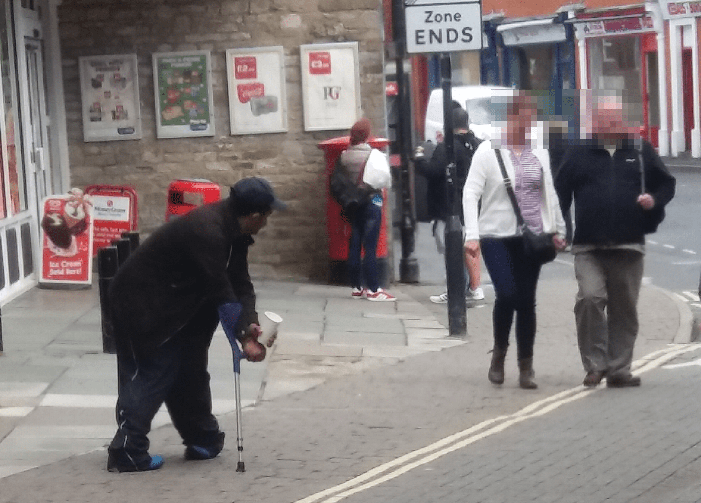 We have Eastern European beggars on the streets of Ludlow – what