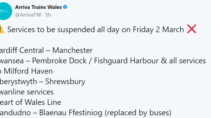 No trains for a third day through Ludlow – no news on when they will resume