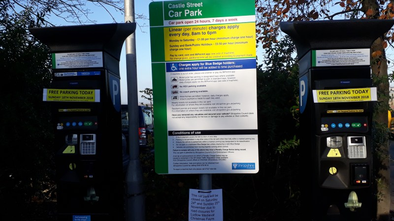 New parking and permit charges in Ludlow from today (updated)