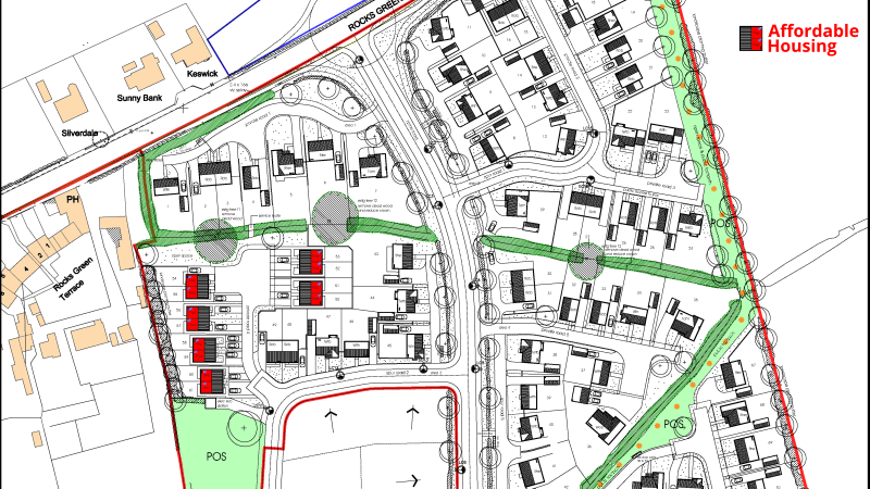 Plans for 200 homes south of Rocks Green approved by planners with increase in affordable housing in first phase