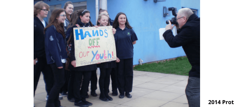 """""""Give us back our Youth Centre!"""" Protest at Ludlow Youth Centre Tuesday 3.30pm. Please come"""