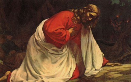 Jesus praying in the Garden of Gesthaname - devotion by Andy Bondurant