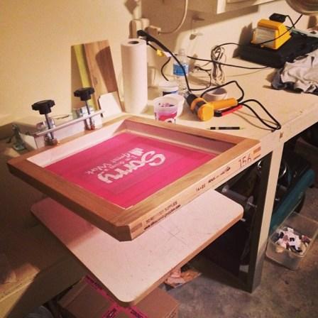 Andy Bondurant's Screen Printing press