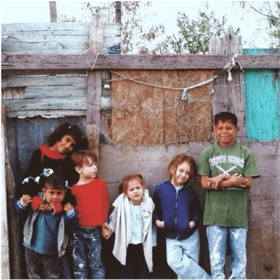 Kessa Bondurant in Mexico at 5 years old on a Homes for the Homeless Trip