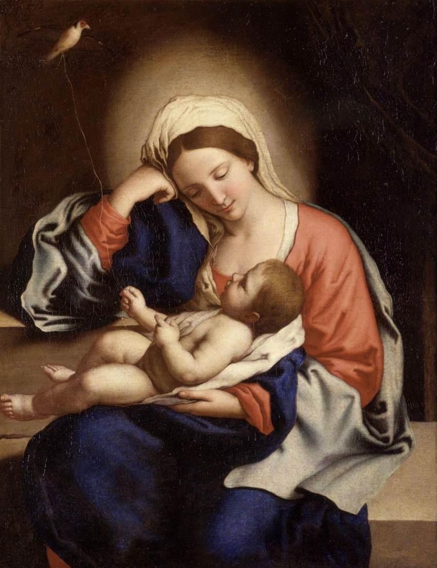 """Madonna with the Christ Child"" by Giovanni Battista Salvi da Sassoferrato"
