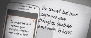 Whitelines works with a phone app to capture your thoughts without lines.
