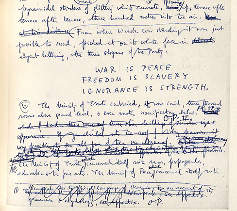 Orwell Manuscript with Editing