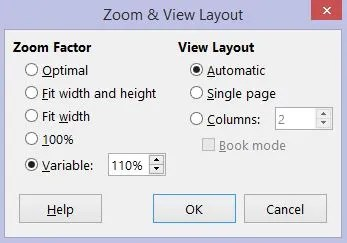Zoom & View Layout box