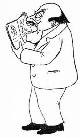 Man Reading an Alphabet Book