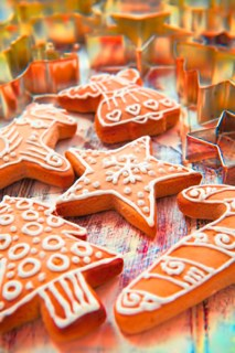 Frosted Gingerbread Cookies & Cutters