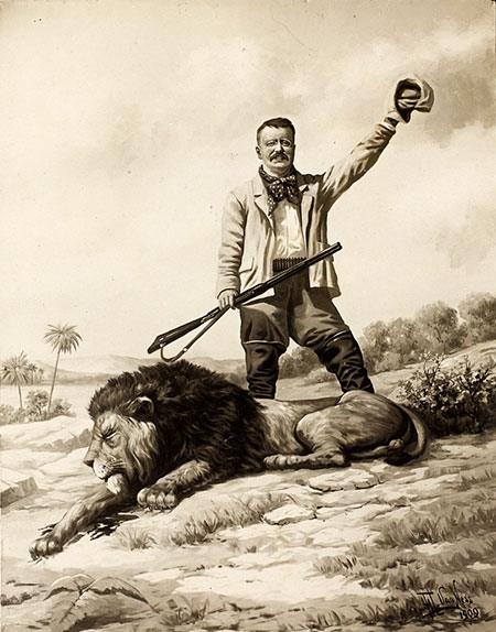 Teddy Roosevelt and Dead Lion - on Frugal Guidance 2