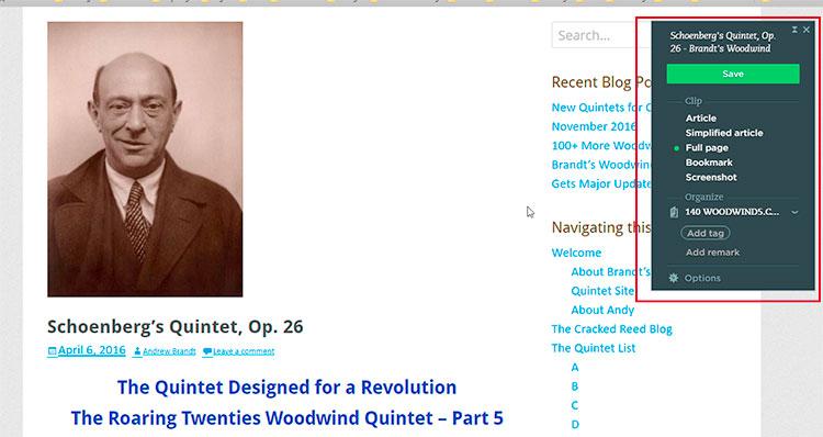 Evernote Web Clipper image