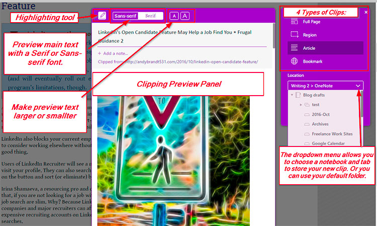 OneNote Clipping Toolbox image