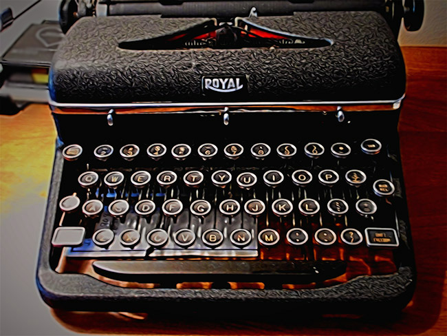 A Portable Royal Typewriter