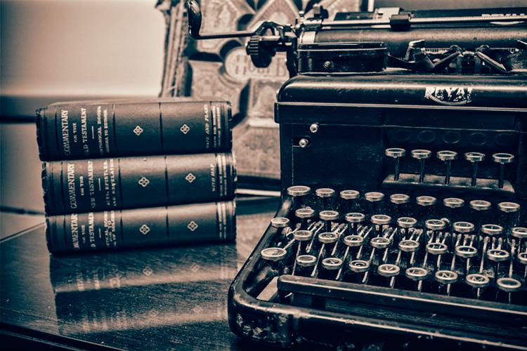 Old Church Typewriter